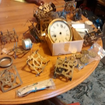 Mechanical clock parts with parts from Herald, Welby Corpoation Germany, Doddo? etc