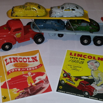 Lincoln Toys Catalogues 1956 and 1958 reproductions. - Advertising
