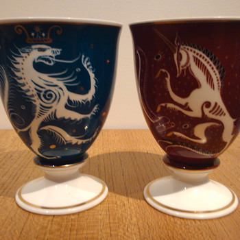 "SUSIE COOPER ""LION & UNICORN"" 1951. - Art Pottery"