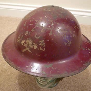 British WW11 Fire Brigade helmet - Military and Wartime