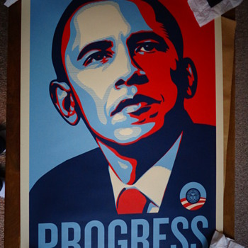 Shepard Fairey, Obey Giant - Progress Screen Print Poster   - Posters and Prints
