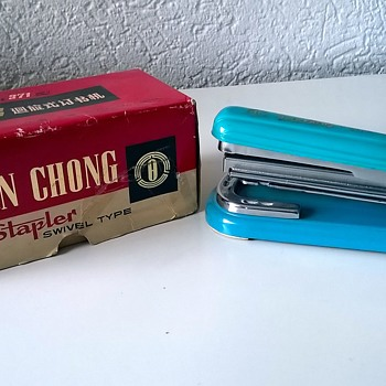 "My 1960s Vintage Aqua Swivel Stapler ""Yuen Chong"" Model 371 $1.00 - Office"