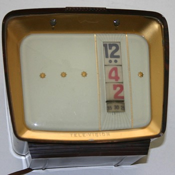 Tele-Vision (Pennwood) Highboy digital clock, November, 1961 Model #715