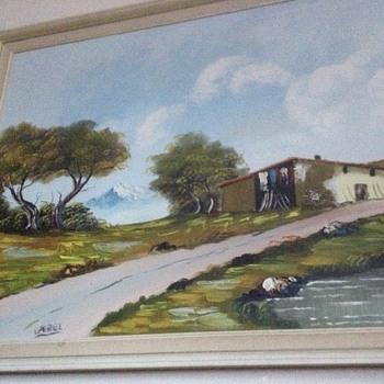 Landscape painting who is l Perez?