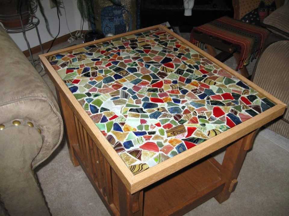 Mosaic Table Table Top With Textured Clay Tiles Pictures to pin on ...