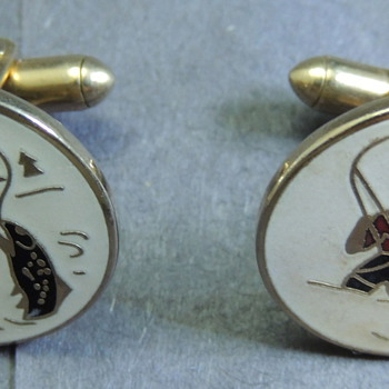 SWANK Cufflinks Fly Fishing