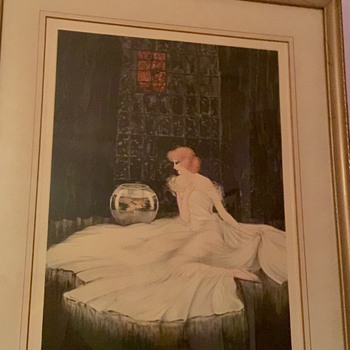 Vintage Courcelles Mediation print - Visual Art