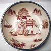 Asian porcelain bowl encased in pewter