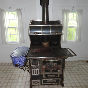 Top of the line wood burning cook stove circa 1901