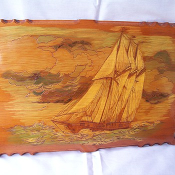 L. Smith Sailboat Wall Art - Folk Art