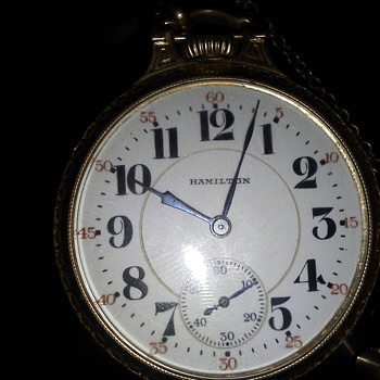 Hamilton 1932 21J 922L Pocket Watch