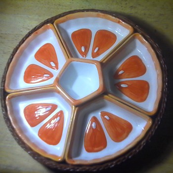 Lazy Susan Pottery Dish - Art Pottery