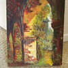 Vintage Oil Painting Unknown Artist Of Old Monastery? Barn?