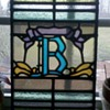 Old stained glass &quot;B&quot;  1909