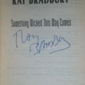 Signed Ray Bradbury Novels