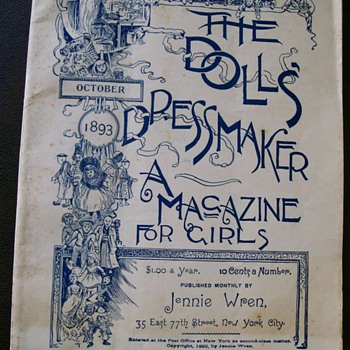 "1893 ""The Dolls Dressmakers Magazine"" and pattern and Stories told by dolls :-)  - Sewing"