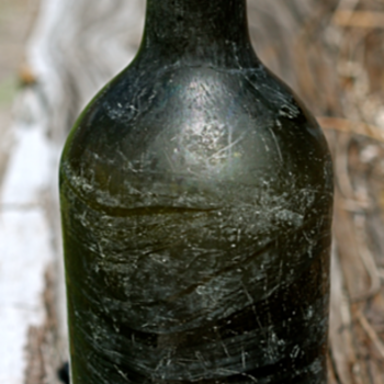~~~Old 1770&#039;s Black Glass Bottle~~~