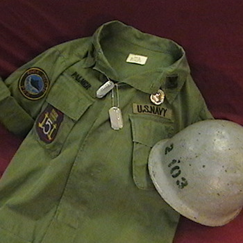 U.S. Navy Vietnam Era River Patrol Boat Jacket and Helmet