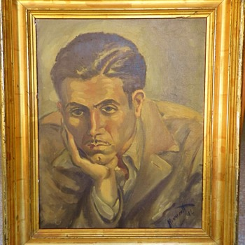 "*NEW PHOTO* - Howard Hughes?? ""HH Despondent"" on Reverse - Visual Art"