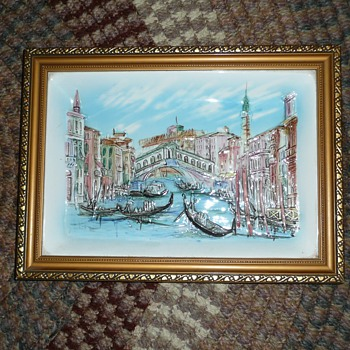 Vintage porcelain painting numbered 6794