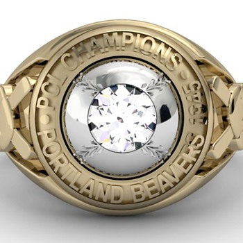 Portland Beavers 1945 Pennant Ring - Baseball