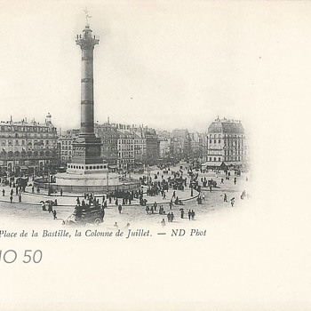 PARIS. - PLACE DE LA BASTILLE, LA COLONNE DE JUILLET.