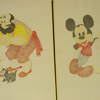 Mickey Mouse / Disney Pictures or Prints?   Signature is Muerin or Murrin.  Any guesses?   - Movies