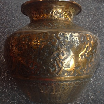 Indian Lota. Brass pot drinking pot. - Asian