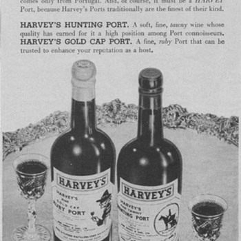 1955 Harvey's Ports Advertisement - Advertising