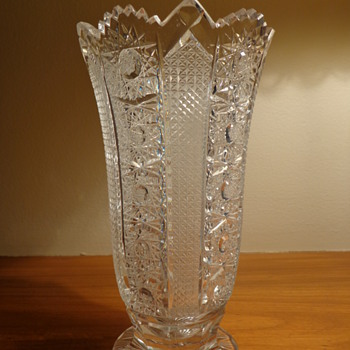 Queen Lace Crystal Vase - Glassware