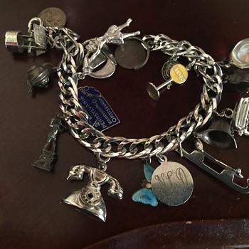 Sterling vintage charm bracelet