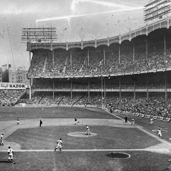 Estate sale find, Unreal Photo Negative of Yankee Stadium vs BKLYN 