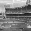 Estate sale find, Unreal Photo Negative of Yankee Stadium vs BKLYN