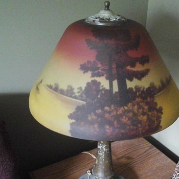 Reverse painting lamp - Lamps