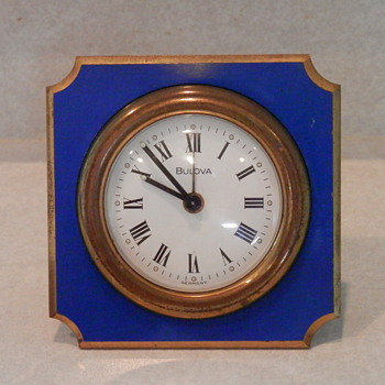 Bulova wind up travel clock made in Germany