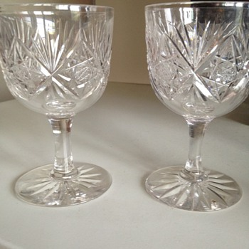 Cut glass wine glasses - Glassware