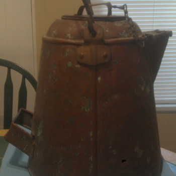 Old Copper Coffee Pot.
