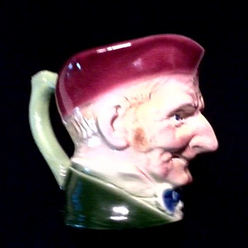"Unusual Character Jug / Unknown Maker Marked ""Anfora"" / Circa 20th Century - Art Pottery"