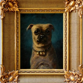 My Favorite French Dog Portrait - Visual Art
