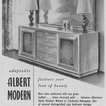 1950 Albert Furniture Advertisements - Advertising