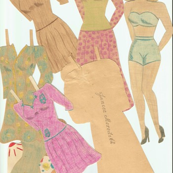 More Hand Drawn paper dolls 1940's WWII era  - Paper