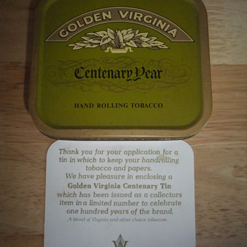 golden virginia centenary tin