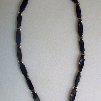 Antique Victorian Carved Onyx Mourning Necklace - Fine Jewelry