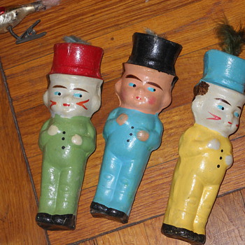 Found in a box of antique Christmas ornaments.  German - but what are they? - Christmas