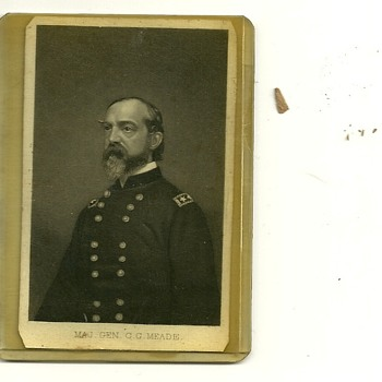 General George G. Meade Original Civil War Era CDV card.
