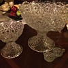 Fostoria Rosby Punch bowl set and a few extras