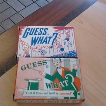 Guess What? Candy Boxes - With taffy - circa 1955 - Advertising