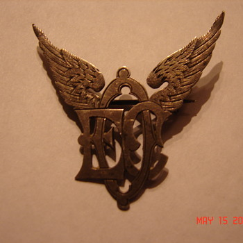 Strange Victorian Winged Pin Brooch  - Victorian Era