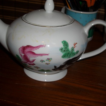 A great find -Flying Koi tea Set