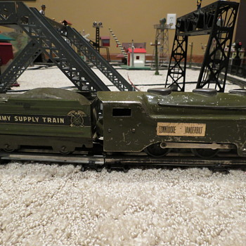 Marx Army Commodore Vanderbilt Prewar train. - Model Trains